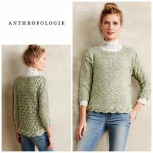Anthropologie Sugar Moss Hand knit sweater